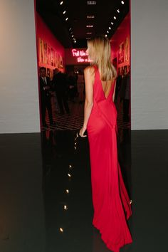 Gorgeous low back red dress