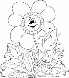 spring coloring pages spring flower
