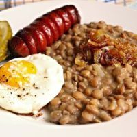 Recept : Čočka nakyselo   ReceptyOnLine.cz - kuchařka, recepty a inspirace Czech Recipes, Ethnic Recipes, What To Cook, Pasta Recipes, Risotto, Grains, Beef, Vegetables, Cooking