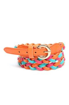 LaughPing- Multicolor Braided Belt $4.99