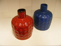 Pair of Melitta Ceracron Fat Lava vases by RetroVases on Etsy