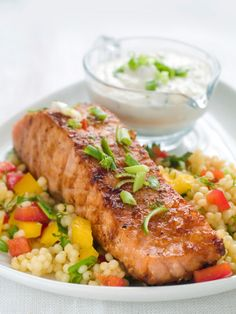 Healthy Salmon Dinner Recipe | Renter Resources Fish is so yummy and great for your skin!  #RFSkintervention