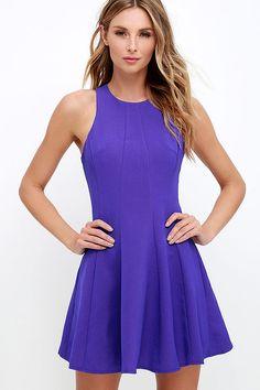 Flare Grounds Indigo Dress at Lulus.com $27.00