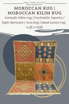 Moroccan rug | Moroccan Kilim Rug! Colorful moroccan rugs, moroccan rug living room, vintage moroccan rugs, moroccan rug bedroom, pink moroccan rug, black and white moroccan rug, white moroccan rug, red moroccan rug, grey moroccan rug, moroccan rug decor, round moroccan rug, moroccan rug wall hanging, boho moroccan rug, moroccan rug office, plush moroccan rug, small moroccan rug, outdoor moroccan rug. #vintagemoroccanrugs #moroccanrugbedroom #whitemoroccanrug #modernmoroccanrug Psychedelic Tapestry, Moroccan Berber Rug, Rug Inspiration, Rug Texture, Rug Shapes, Wool Area Rugs, Kilim Rugs, Plush, Colorful