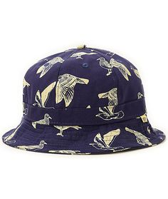 a34720e5ed8 Obey Gulls Navy Bucket Hat