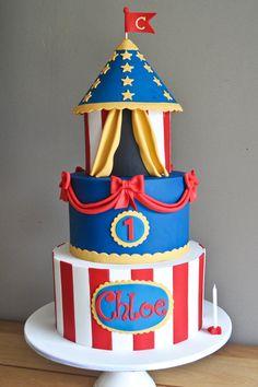 Belinda: Baked by Belinda | carnival carousel first birthday cake