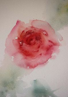 Detail added by using my rigger to form petals to a rose wash I thought it might be fun and helpful to add this little blog post. ...