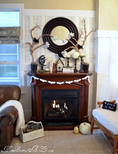 40 delightful diy fall mantel decoration ideas - Mantle Decor On Pinterest Fall Mantels Mantels And Mantles