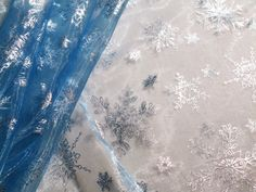 Frozen Fabric Queen Elsa Blue Fabric and Silver by erikasetsyshop, $10.00