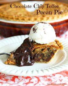 Chocolate Chip Toffee Pecan Pie