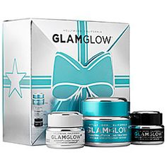 What it is:A trio of GLAMGLOW's bestselling skincare treatment masks.   What it is formulated to do:This trio of products reveals smooth, hydrated, healthy-looking skin. The non-drying Hydrating Treatment mask delivers instant, extreme hydration wh