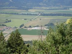 Creston Valley looking west over the flats from Goat Mountain