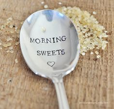 MORNING SWEETS TM Hand Stamped Vintage Sugar di jessicaNdesigns, $19,00