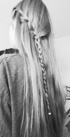 i did this when i had long hair and i miss it so much
