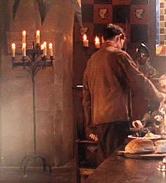 Merlin spilling water on Arthur (gif set) WHERE AND WHEN IS THIS I NEVER SAW IT!!!