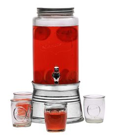 Look at this Lancaster Six-Piece Drink Dispenser & Glass Set on #zulily today!