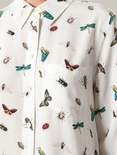 EQUIPMENT butterfly print shirt