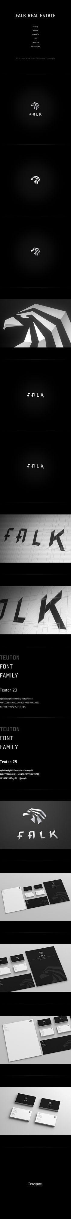 FALK Real Estate - Visual Identity by Perconte , via Behance
