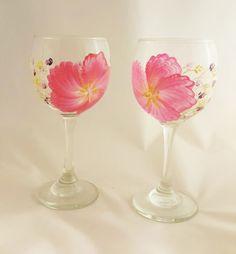 Windblown Blossom Wine Glass Set (2)