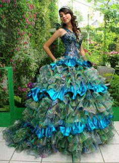 Peacock Princess by AzulAlabastru on Etsy, $750.00