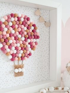 Baby Crafts, Diy And Crafts, Crafts For Kids, Paper Crafts, Pom Pom Crafts, Pom Pom Diy, Unique Baby Gifts, Handmade Baby Gifts, Diy Wanddekorationen