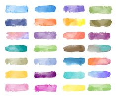 Colorful watercolor patch background vector | free image by rawpixel.com Watercolor Stickers, Watercolor Brushes, Watercolor Texture, Watercolor Background, Abstract Watercolor, Brush Stroke Vector, Image Painting, Photoshop, Good Notes