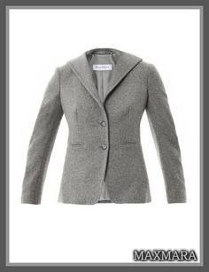 セレブ多数愛用★MaxMara(マックスマーラ)★Spoletto jacket 最高級、上質なカシミヤ100%を使用☆ クラシカルな人気カラー、グレーの単色使いは、どんなボトムス、アクセサリーとも  マッチする、ヘビロテ120%のジャケットです☆