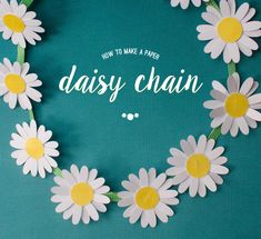 how to make a daisy chain from paper