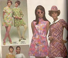 Sew Sixties: 60's/70's Fashion Inspiration: Oversized Collars