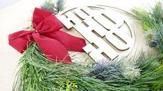 Weihnachtsdekoration, personalisierter Lasercut, perfekt als Türkranz oder Wanddekoration Tableware, Shop, Room Wall Decor, Christmas Decorations, Gifts, Dinnerware, Tablewares, Dishes, Place Settings