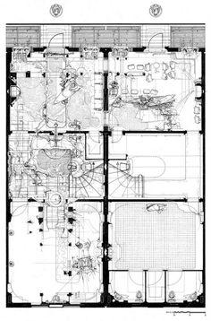 Drawings of Dan Slavinsky #arquitectura #dibujos #plantas