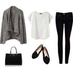 Basic look,  besonders toll:die Strickjacke