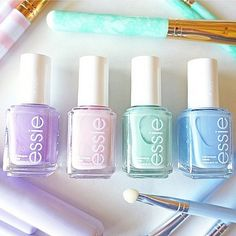 Happy first day of spring! Love this shot by @ilovepicklesco. Featured are 'go ginza', 'minimalistic', 'mint candy apple', and 'bikini so teeny'. #Padgram