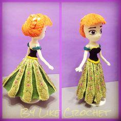 Anna Frozen Disney Amigurumi crochet doll pattern