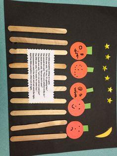 5 little pumpkins sitting on a gate!                                                                                                                                                                                 More