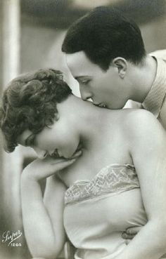 1920s vintage photo. Her skin looks so soft and touchable.
