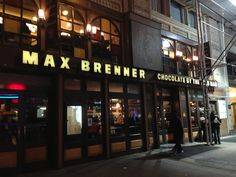 Max Brenner chocolate restaurant in New York, NY