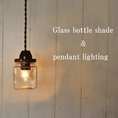 【楽天市場】【ペンダントライト】ガラス瓶 アンティーク / インテリア・寝具・収納 ライト・照明 シーリングライト(天井照明)洋風ペンダントライト ガラスボトル:るーららい