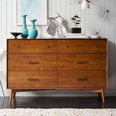 Buy Acorn west elm Mid-Century 6 Drawer Chest, FSC Certified (Eucalyptus) from our Chests of Drawers range at John Lewis & Partners. 6 Drawer Chest, 6 Drawer Dresser, Chest Of Drawers, Dressers, West Elm Dresser, Walnut Dresser, Nightstand, Mid Century Bedroom, Mid Century Dresser