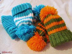 Căciulite pereche Winter Hats, Gloves