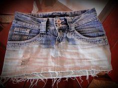 Customizar saia jeans