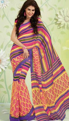 Online Shopping India: Latest Trends in Fashion Clothing Block Print Saree, Ethnic Dress, Georgette Sarees, Printed Sarees, Indian Ethnic, Latest Fashion Trends, Dresses Online, Bollywood, Sari