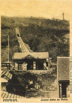 Funicular Railway to Petřín Hill, 1902 Old Pictures, Old Photos, Heart Of Europe, Prague Czech, World Cities, Beautiful Places In The World, Rare Photos, Historical Photos, Czech Republic