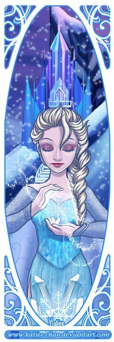 "Frozen by Katiee-chan.deviantart.com on @deviantART - Elsa from ""Frozen"""