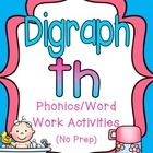 This unit has everything your students need to practice the digraph th. It is loaded with engaging, hands-on activities that make great centers, in...