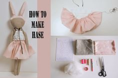 Hase by Lieschen Mueller. Sewing For Kids, Diy For Kids, Diy Projects To Try, Sewing Projects, Diy And Crafts, Arts And Crafts, Diy Doll, Small World, Fabric Dolls