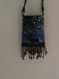 Elk Night pouch. Beaded by Dream Keepers.