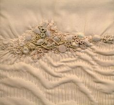 Jennifer Rochester is one of those who inspired me to start creating my own works.  Textile art by Jennifer Rochester.