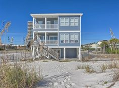 Wave Dancer is a Gulf Front 6 bedroom, 5.5 bathroom house located in the heart of West Beach in #GulfShores. You're footsteps away from paradise!