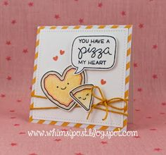 """the Lawn Fawn blog: A Clever """"Pizza My Heart"""" Card by Elise!"""
